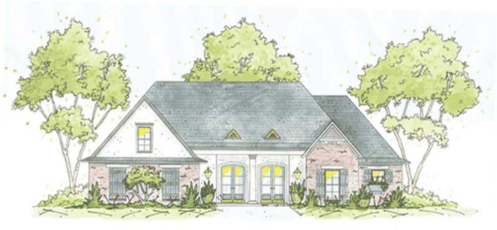 Ranch  home (ThePlanCollection: Plan #139-1172)