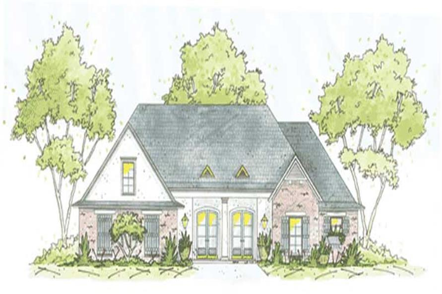 4-Bedroom, 2444 Sq Ft House Plan - 139-1172 - Front Exterior