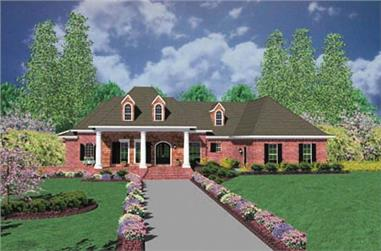 3-Bedroom, 3737 Sq Ft European Home Plan - 139-1176 - Main Exterior