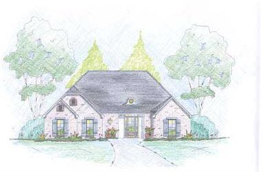 3-Bedroom, 1624 Sq Ft Country House Plan - 139-1180 - Front Exterior