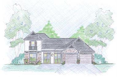 3-Bedroom, 1649 Sq Ft Cape Cod House Plan - 139-1182 - Front Exterior