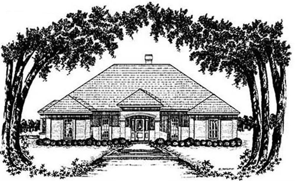 Main image for house plan # 8061