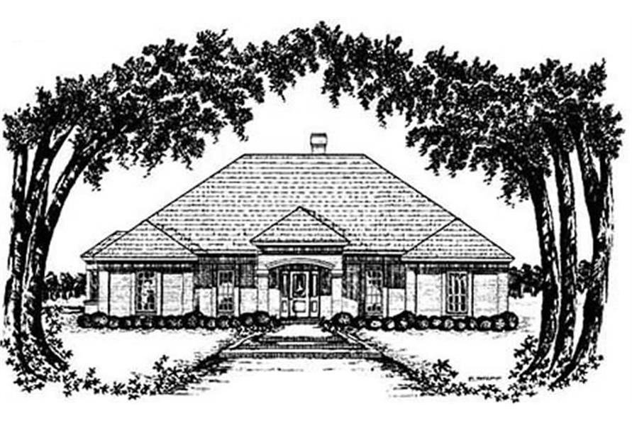 4-Bedroom, 2066 Sq Ft European House Plan - 139-1184 - Front Exterior