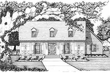 4-Bedroom, 2192 Sq Ft Colonial House Plan - 139-1185 - Front Exterior