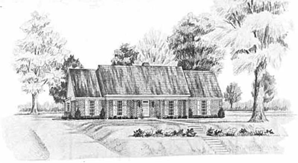 Farmhouse home (ThePlanCollection: Plan #139-1186)