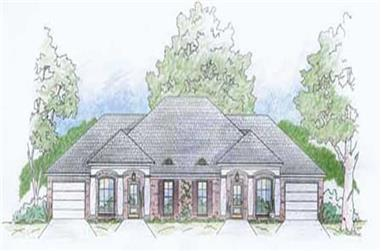2-Bedroom, 1131 Sq Ft Multi-Unit House Plan - 139-1190 - Front Exterior