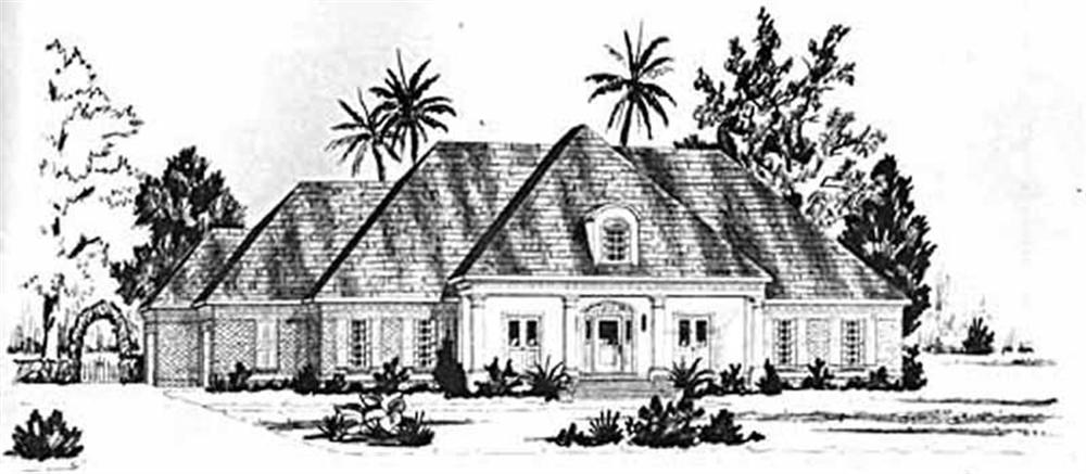 Luxury home (ThePlanCollection: Plan #139-1192)