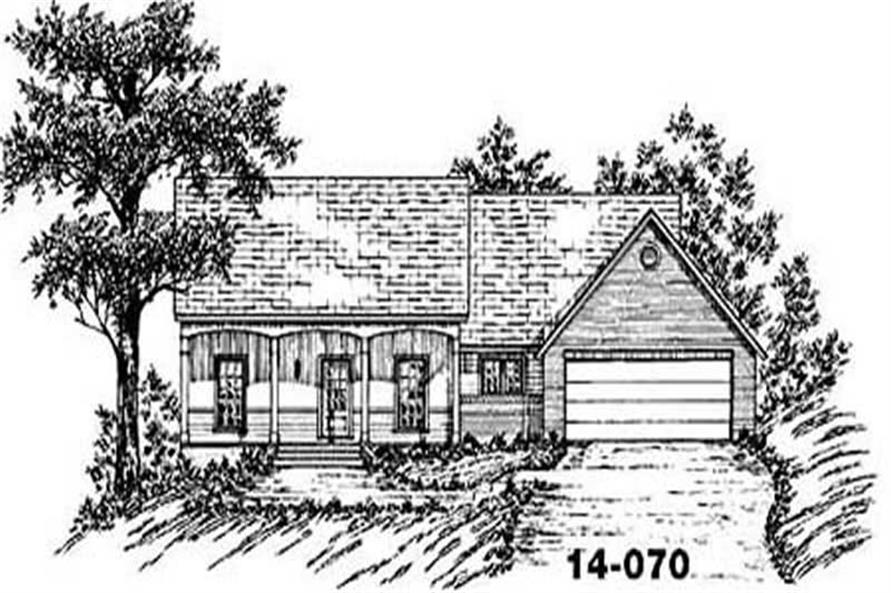 3-Bedroom, 1471 Sq Ft Country House Plan - 139-1193 - Front Exterior