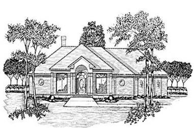 4-Bedroom, 2215 Sq Ft Ranch House Plan - 139-1194 - Front Exterior