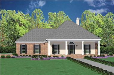 3-Bedroom, 2255 Sq Ft Colonial House Plan - 139-1195 - Front Exterior