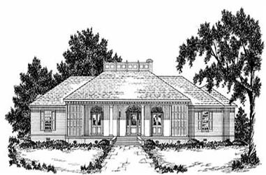 4-Bedroom, 2773 Sq Ft Colonial House Plan - 139-1197 - Front Exterior