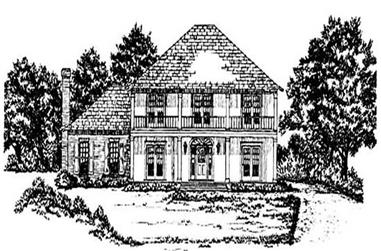 4-Bedroom, 2898 Sq Ft European House Plan - 139-1199 - Front Exterior