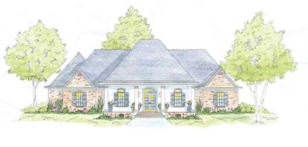 Acadian home (ThePlanCollection: Plan #139-1201)