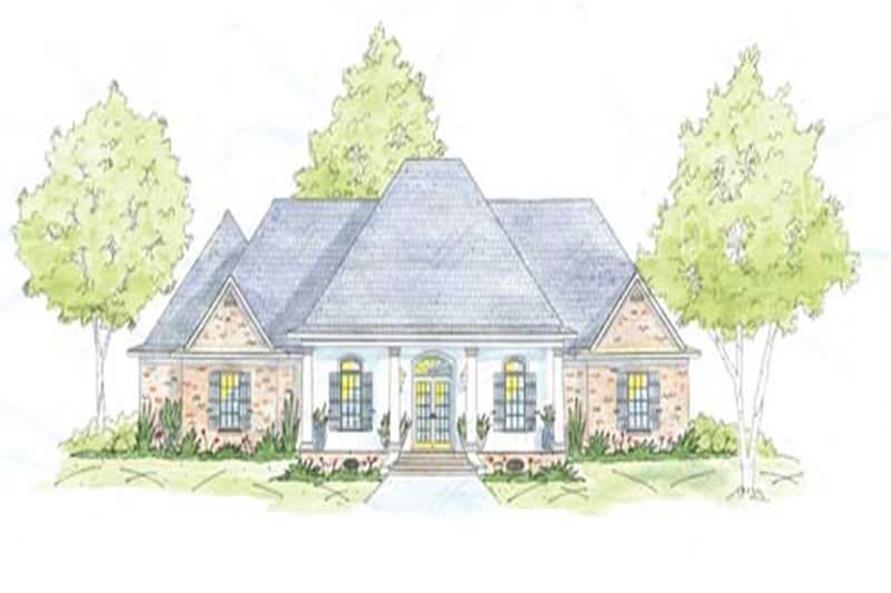 4-Bedroom, 2704 Sq Ft House Plan - 139-1201 - Front Exterior