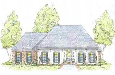4-Bedroom, 2070 Sq Ft House Plan - 139-1203 - Front Exterior