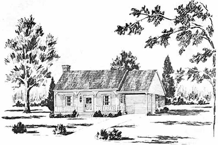 Main image for house plan # 8051