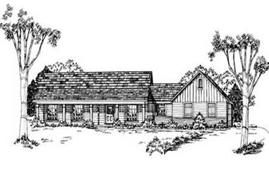 3-Bedroom, 1460 Sq Ft Country Home Plan - 139-1205 - Main Exterior