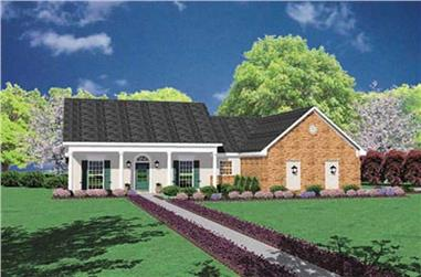 3-Bedroom, 1320 Sq Ft Country Home Plan - 139-1206 - Main Exterior