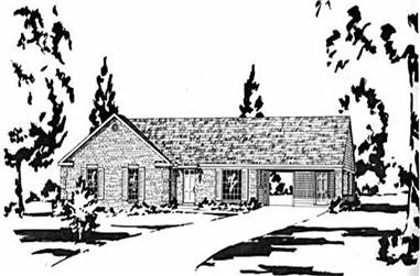 3-Bedroom, 1204 Sq Ft Ranch Home Plan - 139-1207 - Main Exterior