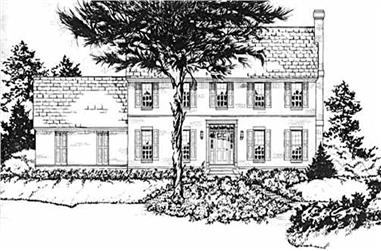 3-Bedroom, 2047 Sq Ft Colonial House Plan - 139-1210 - Front Exterior