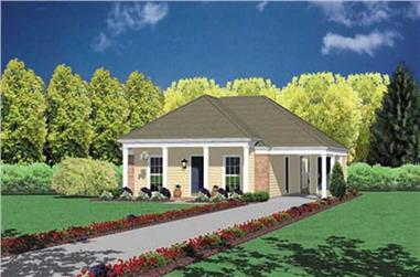 2-Bedroom, 1007 Sq Ft Small House Plans - 139-1211 - Main Exterior