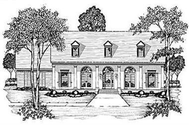 3-Bedroom, 2127 Sq Ft Colonial House Plan - 139-1213 - Front Exterior