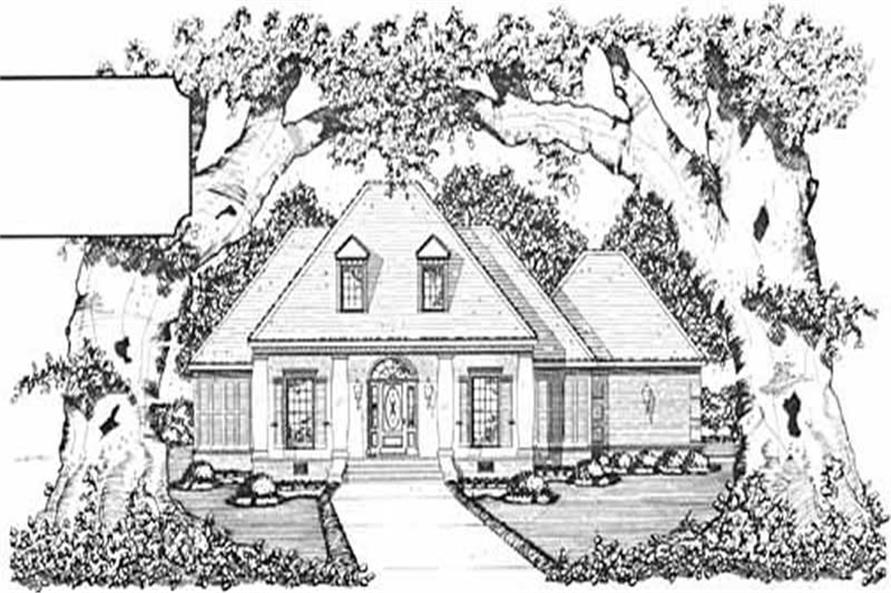 4-Bedroom, 2192 Sq Ft Colonial House Plan - 139-1216 - Front Exterior