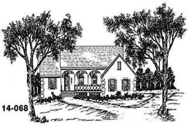3-Bedroom, 1418 Sq Ft Country House Plan - 139-1218 - Front Exterior
