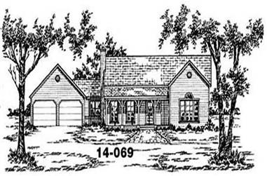 3-Bedroom, 1418 Sq Ft Country House Plan - 139-1219 - Front Exterior