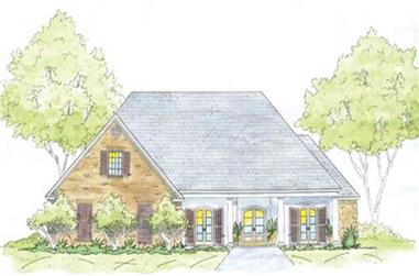4-Bedroom, 2705 Sq Ft Home Plan - 139-1220 - Main Exterior