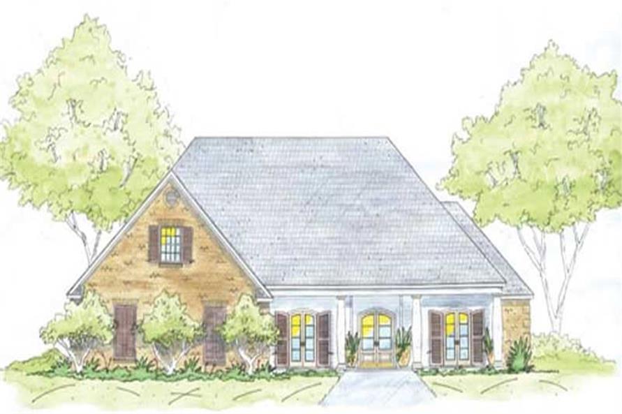4-Bedroom, 2705 Sq Ft Home Plan - 139-1220 - Main Exterior