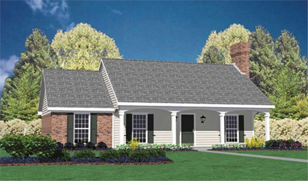 Front elevation of Country home (ThePlanCollection: House Plan #139-1221)