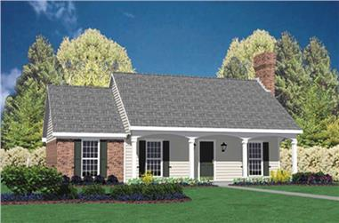 3-Bedroom, 1157 Sq Ft Country Home Plan - 139-1221 - Main Exterior