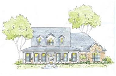3-Bedroom, 2658 Sq Ft House Plan - 139-1222 - Front Exterior