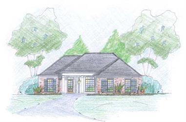 3-Bedroom, 1444 Sq Ft Small House Plans - 139-1225 - Front Exterior