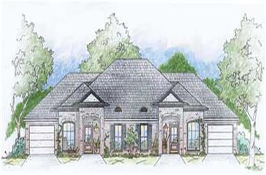 2-Bedroom, 1131 Sq Ft Small House Plans - 139-1226 - Front Exterior