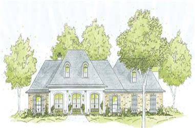 3-Bedroom, 2477 Sq Ft House Plan - 139-1230 - Front Exterior