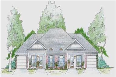 2-Bedroom, 1109 Sq Ft House Plan - 139-1232 - Front Exterior