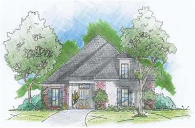 3-Bedroom, 2196 Sq Ft House Plan - 139-1233 - Front Exterior