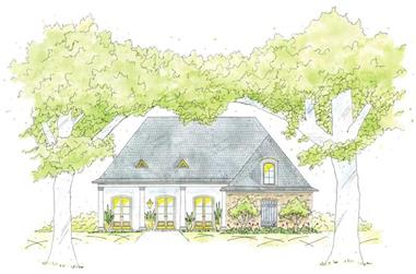 3-Bedroom, 1777 Sq Ft House Plan - 139-1234 - Front Exterior