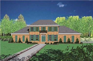 4-Bedroom, 3132 Sq Ft Colonial House Plan - 139-1235 - Front Exterior