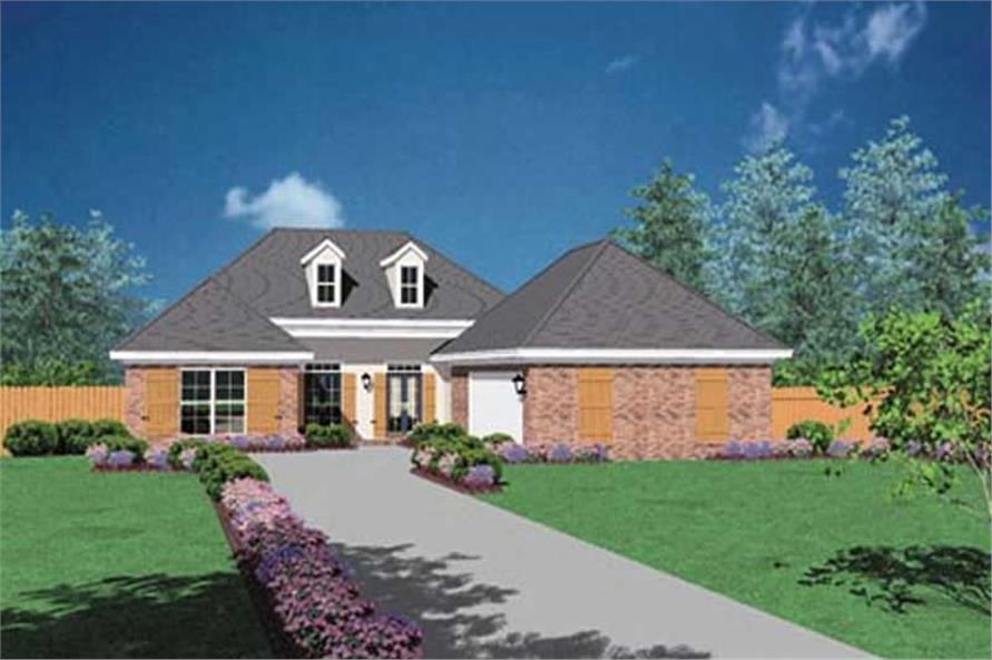 3-Bedroom, 1938 Sq Ft European House Plan - 139-1236 - Front Exterior