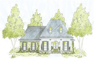 3-Bedroom, 2067 Sq Ft House Plan - 139-1237 - Front Exterior