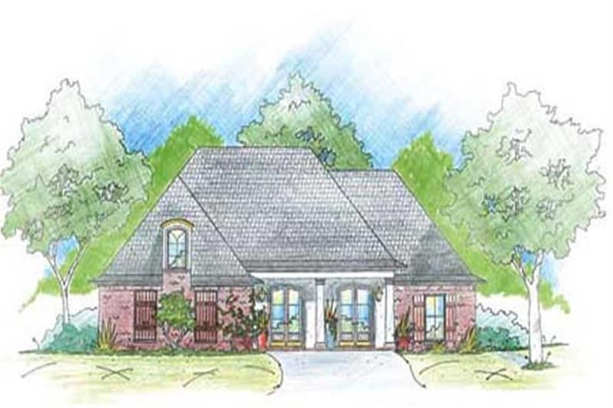 3-Bedroom, 1819 Sq Ft House Plan - 139-1238 - Front Exterior