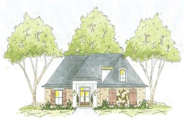3-Bedroom, 1824 Sq Ft House Plan - 139-1239 - Front Exterior
