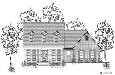 3-Bedroom, 2236 Sq Ft Country Home Plan - 140-1000 - Main Exterior
