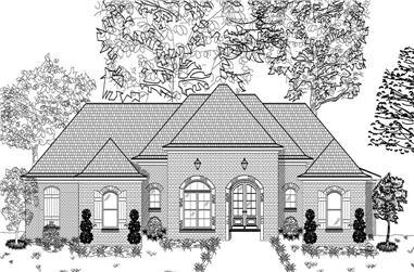 3-Bedroom, 2174 Sq Ft European Home Plan - 140-1001 - Main Exterior