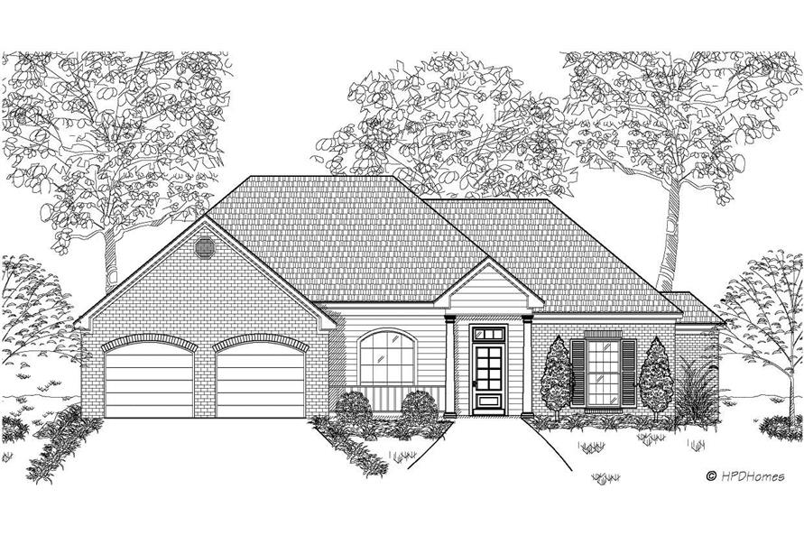 3-Bedroom, 1498 Sq Ft European House Plan - 140-1002 - Front Exterior