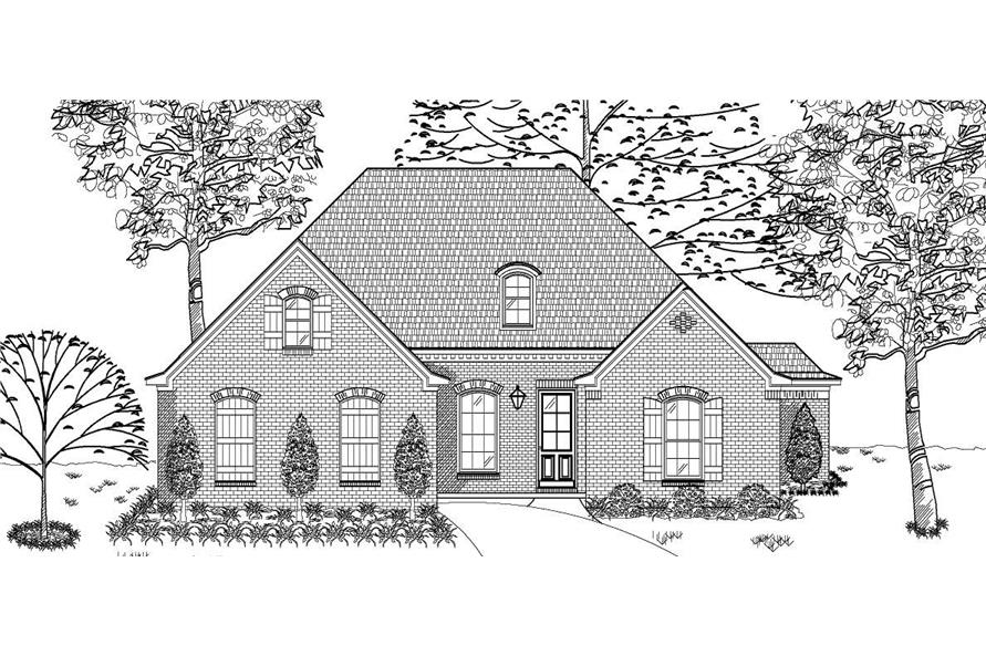 This is a black and white rendering of these European Homeplans.