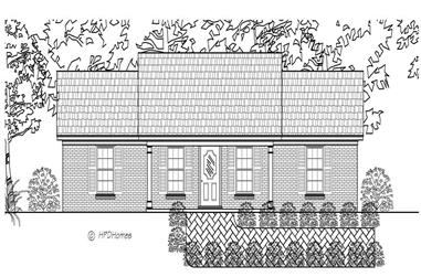 2-Bedroom, 1196 Sq Ft Country Home Plan - 140-1005 - Main Exterior
